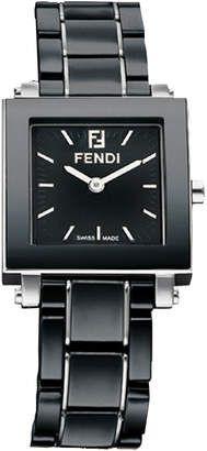 Fendi Ceramic Quadro Watch Small Black #watches #womens