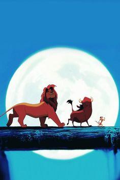 Lion King | Simba, Pumba & Timon #iOS7 #iPhone #Wallpaper