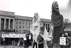 """In 1980, 2,000 women circled the Pentagon: """"We are gathering at the Pentagon on November 17 because we fear for our lives. We fear for the life of this planet, our Earth, and the life of our children. We are in the hands of men whose power and wealth have separated them from the reality of daily life and from the imagination. At the same time our cities are in ruins, bankrupt; they suffer the devastation of war. Hospitals are closed, our schools are deprived of books and teachers."""""""
