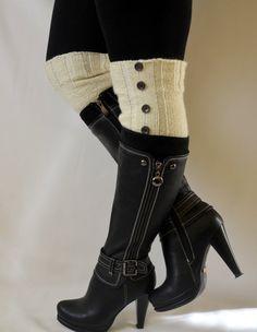 boot cuffs  hand knitt boot cuffs boot socks boot by bstyle, $20.00