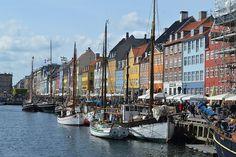 Nyhavn, Denmark, Copenhagen, Canal