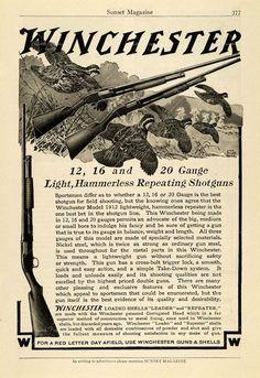 Vintage Winchester Shotgun Ad