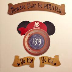 Mickey Pirate Night Disney Cruise Stateroom Door by nickandjojo
