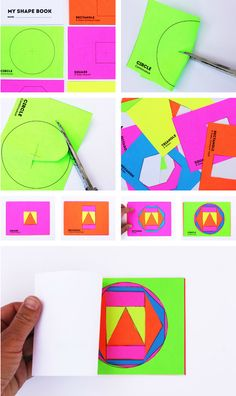 Math Book Art: My Shape Book | Downloadable template for making a simple shape book with and for kids. Perfect for shape activities for kids! #diybooks #kidscrafts