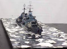 HMS Belfast on ice   by Chris Flodberg