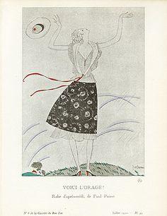 Gazette du Bon Ton Antique Fashion Prints 1912-1913