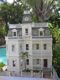 Seriously Impressive.. The Key West Island Manor Dollhouse