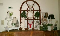 My sidetable ready for christmas ....