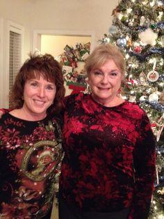 2013.12.12 Jane and Cheryl @ NN4N Christmas Party