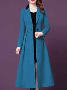 Look Fashion, Korean Fashion, Latest Fashion, Cheap Fashion, Fashion Online, Faux Fur Hooded Coat, Coats For Women, Clothes For Women, Long Wool Coat