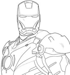 Avengers Iron Man 3 Coloring Pages