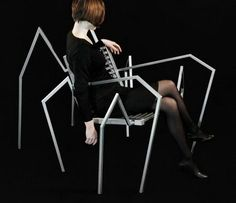 spider shape chair design idea