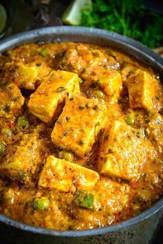 Indian Vegetarian Recipes 600386194055085260 - Achari Paneer is an Indian cottage cheese curry made using pickling spices. Slightly tangy and full of flavors, this curry goes perfect with Indian breads. Indian Veg Recipes, Indian Dessert Recipes, Paneer Recipes, Indian Food Vegetarian, Indian Snacks, Indian Appetizers, Vegetarian Cooking, Paneer Dishes, Veg Dishes