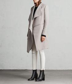 Women's Ora Zip Coat (MOTH GREY) - Image 4