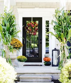3 New Ways to Add Fall Style to Your Front Porch: (#1) Showcase Large-Scale Lanterns. Get yours here: http://www.brilliantimports.com/collections/candle-holders