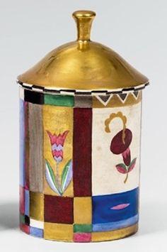 Dagobert Peche ceramic pot with lid, 1912.