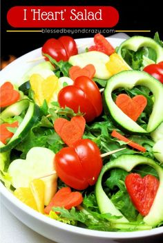 I 'Heart' Salad - turn a normal salad into an extraordinary salad for Valentine's Day.