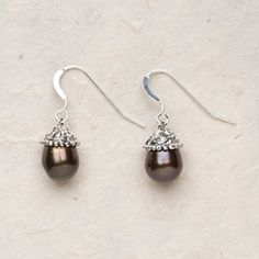 Chocolate Pearls in Sterling Silver