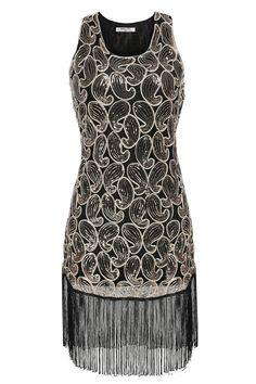 Sleeveless Sequins 1920s Style Tassel flapper Sexy Gatsby Dress