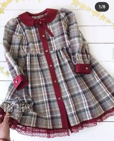 Stylish Dresses For Girls, Little Girl Outfits, Little Girl Dresses, Kids Outfits, Baby Girl Dress Design, Girls Frock Design, Baby Girl Fashion, Kids Fashion, Baby Girl Frocks