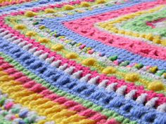 Faeries- Sampler Baby Afghan, free pattern by Bizzy Crochet