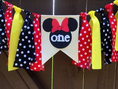 Minnie Mouse Banner Party Classic Minnie by PrettyBoutiqueParty