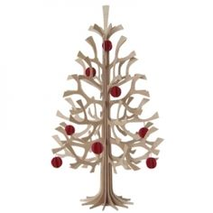 Lovi plywood Christmas tree with baubles Seasonal Decor, Holiday Decor, Spruce Tree, Christmas Design, Design Show, Furniture Decor, Candle Holders, Objects, Pure Products