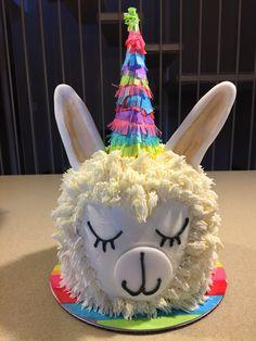 Fiesta Lama smash cake Llama Birthday, 2nd Birthday, Birthday Cakes, Birthday Ideas, Fancy Cakes, Cute Cakes, Fete Emma, Animal Cakes, Novelty Cakes