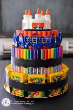 How to Make an Art School Supply Tower Cake Michaels #create2educate