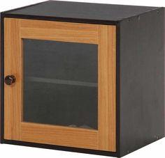 Wood gradation boxes glass doors MA