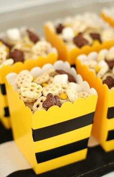 Honeycomb Party Mix Honeycomb Party Mix PS Weddings and Events pswedandevents Bumble Bee Decor Bee Party &; Easy Honeycomb Party Mix for Bee […] bee Baby Shower ideas Bee Gender Reveal, Baby Gender Reveal Party, Gender Reveal Themes, Gender Party, Baby Shower Parties, Baby Shower Themes, Shower Ideas, Pool Parties, Bee Baby Showers