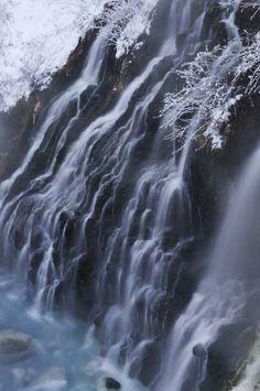 Shirahige Falls, Biei, Hokkaido, Japan 白ひげの滝