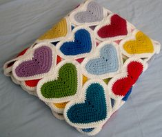 Ravelry: Little Heart Scrapghan pattern by Julie Lapalme