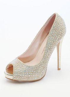 Wedding & Bridesmaid Shoes Glitter Peep Toe Platforms with Crystals Gold... David's Bridal,http://www.amazon.com/dp/B00EZOVP3S/ref=cm_sw_r_pi_dp_PmFstb0EB92VWTWA