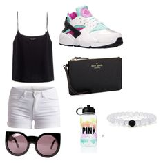 """""""Hershey park trip"""" by e2bop01 ❤ liked on Polyvore featuring NIKE, Freda, Pieces, Kate Spade, Wildfox and Victoria's Secret"""