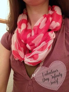 Tutorial for a beautiful Dollar Store VALENTINES DAY infinity scarf