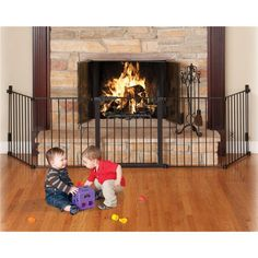 Kidco Kidco Auto Close HearthGate Fireplace Safety Gate, Childproofing-Fireplace Safety, Kidco Auto Close HearthGate Fireplace Safety Gate, The Kidco AutoClose HearthGate Child Safety Gate helps you babyproof your fireplace. Home Safety, Baby Safety, Child Safety, Safety Tips, Fireplace Gate, Fireplace Screens, Baby Proof Fireplace, Fireplace Ideas, Fireplace Remodel