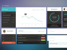 Flat UI Concepts Time Graph - http://www.welovesolo.com/flat-ui-concepts-time-graph/