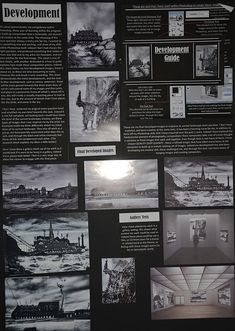 This preparatory sheet shows the development of digitally manipulated compositions, drawing ideas from the photographers studied. The page includes screenshots and descriptions of Photoshop tools that have been used to merge images together. Michael also includes a gallery 'mock-up', showing how the his work would look if hung in a gallery exhibition space. This allows him to establish a sense of scale and show the work in context.