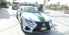 For any other police force in the world, a Lexus RC F would be an amazing addition to their collection. Emergency Vehicles, Expensive Cars, Police Cars, Super Cars, Dubai, Montana, Countries, Garage, Money