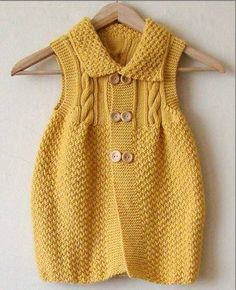 Baby braids newest knitting patterns - Part 2 - Knittting Crochet Baby Cardigan, Baby Pullover, Baby Vest, Knitting For Kids, Baby Knitting Patterns, Baby Patterns, Hand Knitting, Craft Patterns, Crochet Patterns