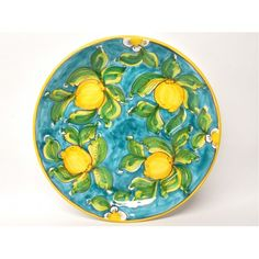 """Limoni di Sicilia Turquoise 14.5"""" Platter. Come have a look at the other Italian ceramics we have imported from Italy!"""