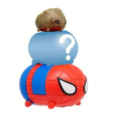 Marvel Tsum Tsum Series 3 3 Pack Mini Figures - Groot, Mystery Figure and Spider-Man