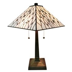 Shop For Amora Lighting AM202TL14 Jeweled 21 Inch High Tiffany Style Mission Table Lamp