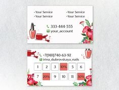 60 trendy manicure salon names Beauty Business Cards, Business Holiday Cards, Salon Business Cards, Hairstylist Business Cards, Artist Business Cards, Home Nail Salon, Nail Salon Design, Salon Price List, Nail Logo