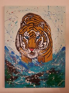 Tiger Abstract Art, Artwork, Artist, Paintings, Animals, Instagram, Sketches, Art Paintings, Art Pieces