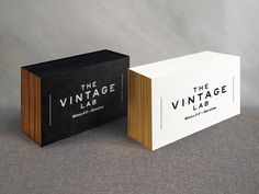 Logo and business card design for THE VINTAGE LAB by Mikel Cans, via Behance