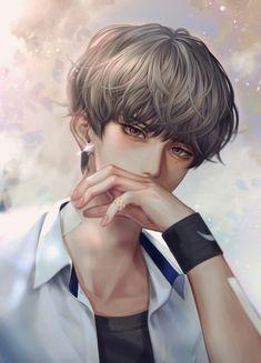 Anime W, Dark Anime Guys, Cool Anime Guys, Handsome Anime Guys, Hot Anime Boy, Anime Art Girl, Anime Dolls, Anime Boy Sketch, Digital Art Anime