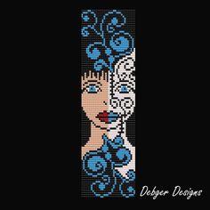 Bead Pattern Loom(Bracelet Cuff)-Girl Next Door – 2019 - Weaving ideas Bead Crochet Patterns, Bead Embroidery Patterns, Beading Patterns Free, Peyote Patterns, Weaving Patterns, Art Patterns, Knitting Patterns, Mosaic Patterns, Color Patterns