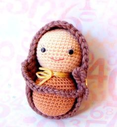 Big Peanut Baby - Amigurumi pattern - Crochet doll tutorial PDF - crochet amigurumi NOT FREE